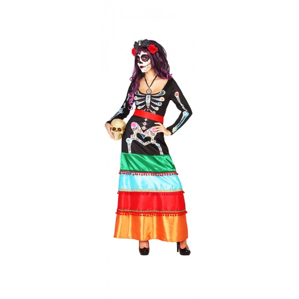 Costume - Robe Longue - Dia De Los Muertos  - 38511-parent