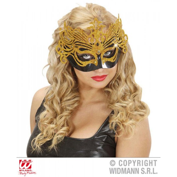 Masque Baroque Brillant - Or - 6429W