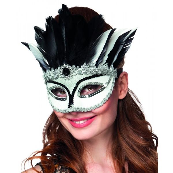 Or Venise Masque Yeux-Vénitien Rose Plume Masque Bal Masqué Déguisement