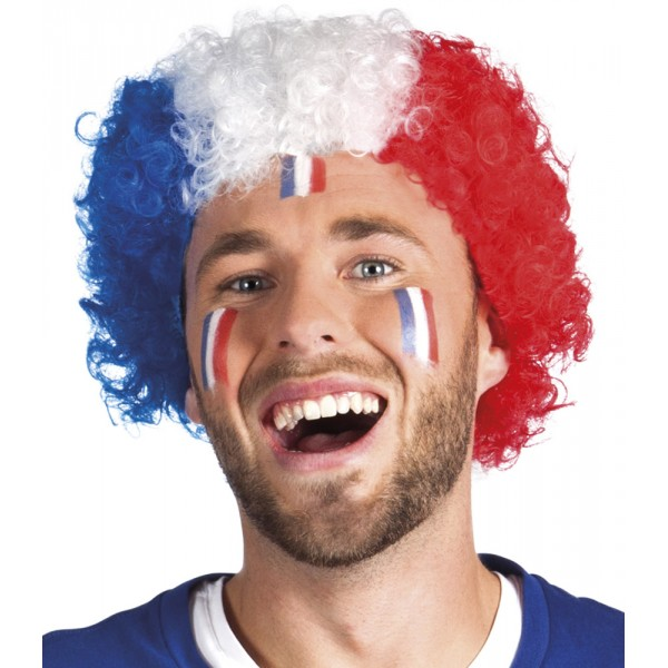 Perruque Afro Supporter France - 62045