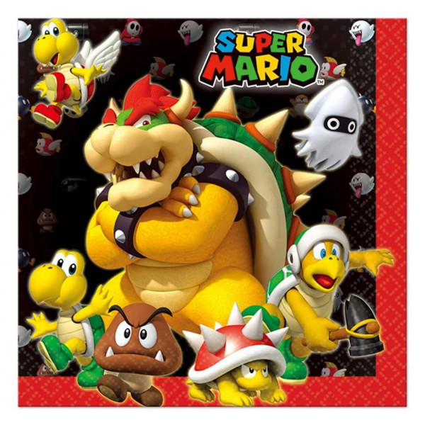 Serviettes - Super Mario Bros™ x 20 - 9901538