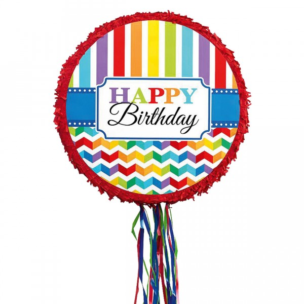 Piñata à fils Happy Birthday - P33521