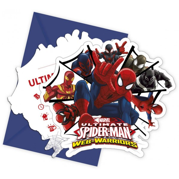 Invitations Ultimate Spiderman Web Warriors™ x6 - 85157