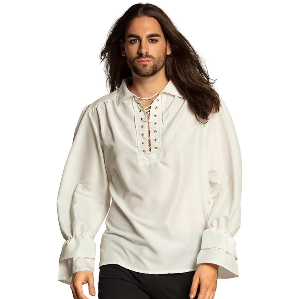 Chemise Pirate Blanche - Homme - 74130-Parent