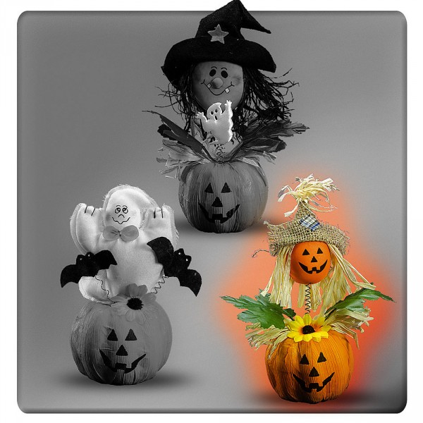 Figurine - Tradition d'Halloween - Citrouille - 7610-CITR
