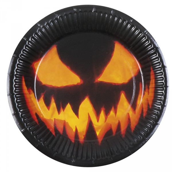 Assiettes Creepy Pumpkin - Citrouille x6 - 72310