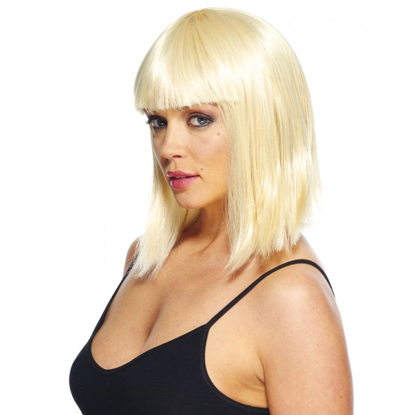 Perruque Glamour Carré Plongeant - Blonde - Perruque - Rue de la Fête