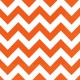 Miniature Serviettes - Chevrons - Orange x 20