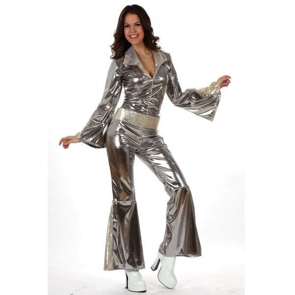 Costume Disco Fever argent - parent-15378