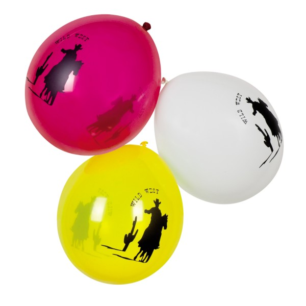 Lot de 6 Ballons Wild West - 54312