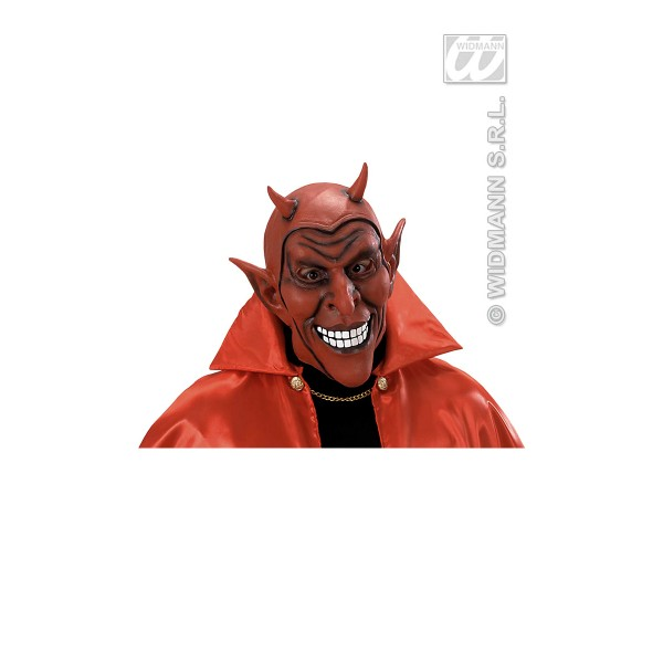 Masque Vinyle Diable Souriant Rouge - Adulte - 8306D