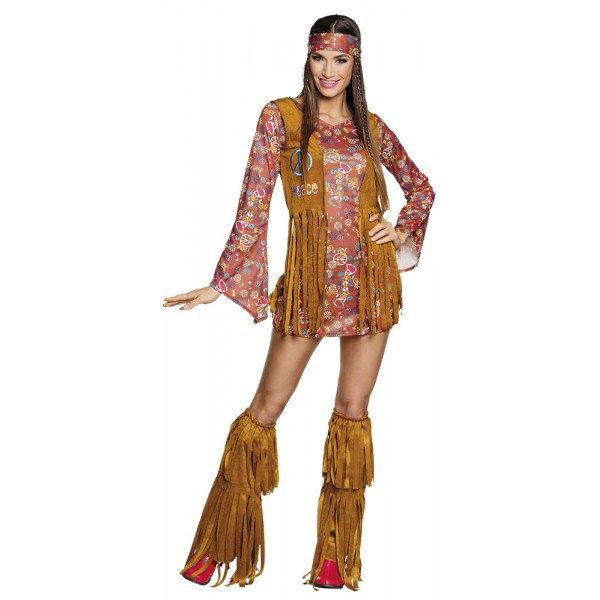 Déguisement Robe Hippie - Adulte - 83663-Parent
