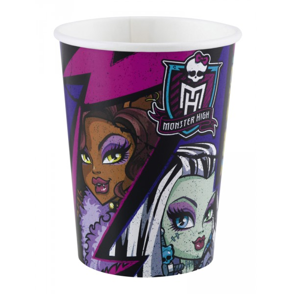 8 Gobelets en Carton Monster High™ - 552513