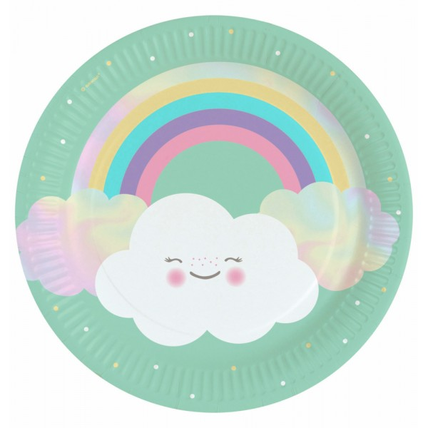Assiettes Rainbow & Cloud x8 - 9904299