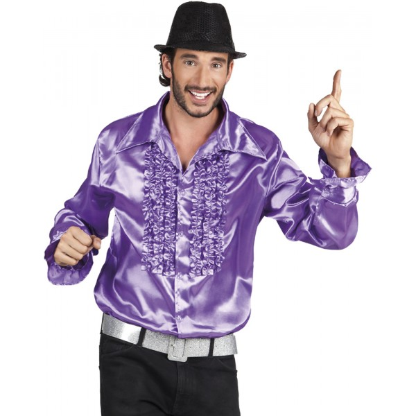 Chemise Disco Violette - Adulte - 2146-Parent