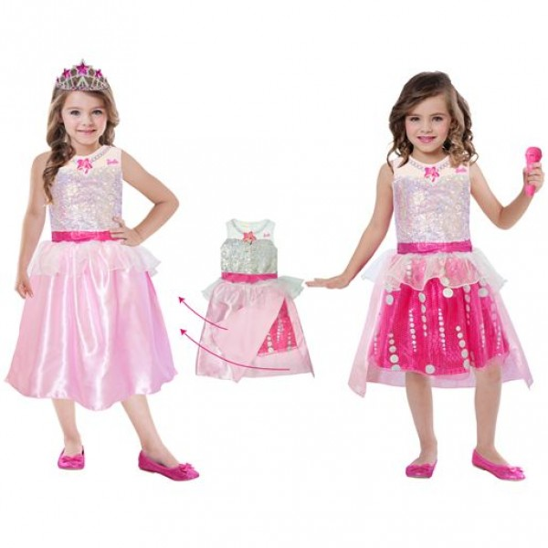 Déguisement Barbie Rock & Royals Premium : 5/7 ans - Amscan-999581-Parent