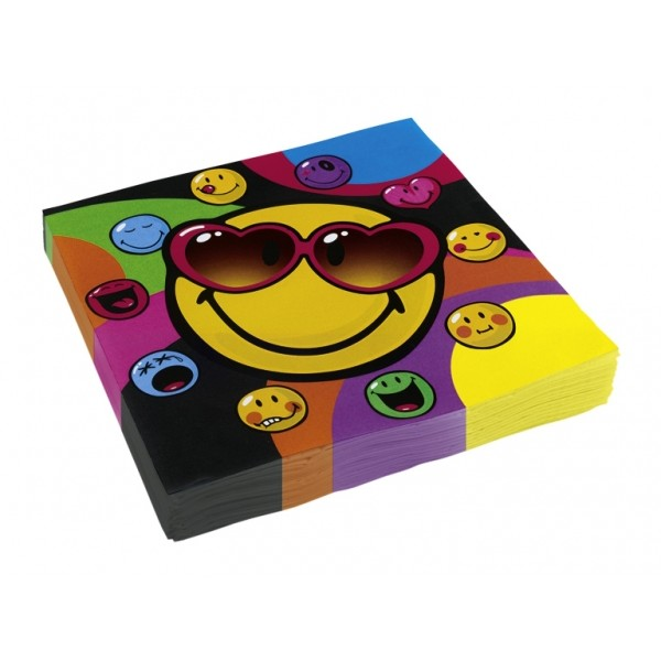 Serviettes Papier Smiley (lot de 20) - 552428