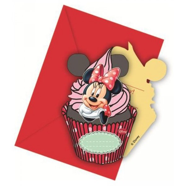 Invitation Anniversaire Minnie Café™ x6 - 82676