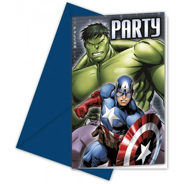 Invitations Avengers Assemble™ x6 - 84653