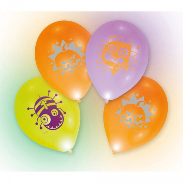 Ballons Latex Avec Led x4 - Halloween - 9901055