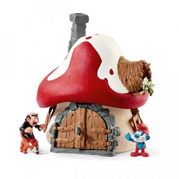 Maison des schtroumpfs avec 2 figurines jeux et jouets schleich avenue des jeux - Schtroumpf maison ...
