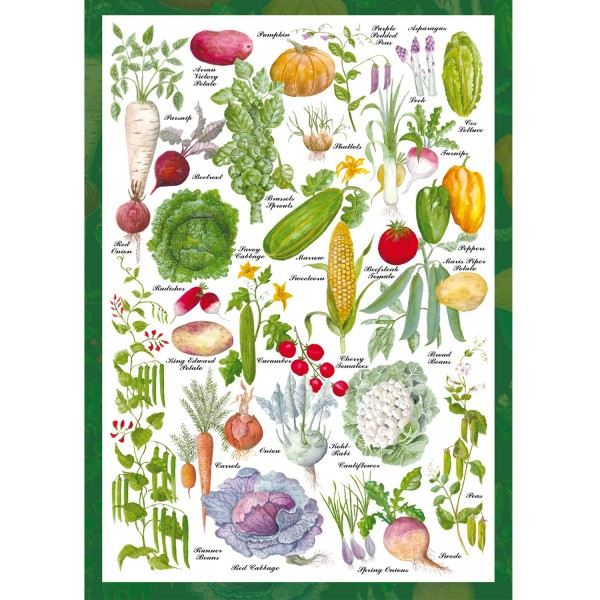 Puzzle 1000 pièces : The countryside collection : Potager - Schmidt-59567