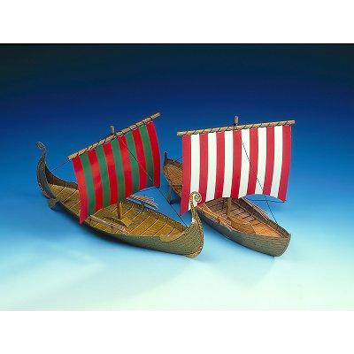 maquette en carton bateaux de vikings schreiberbogen