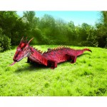 Maquette en carton : Dragon rouge