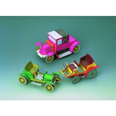 maquette en carton voitures anciennes coffret 1 schreiber bogen rue des maquettes. Black Bedroom Furniture Sets. Home Design Ideas