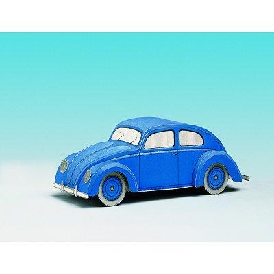voiture coccinelle en carton