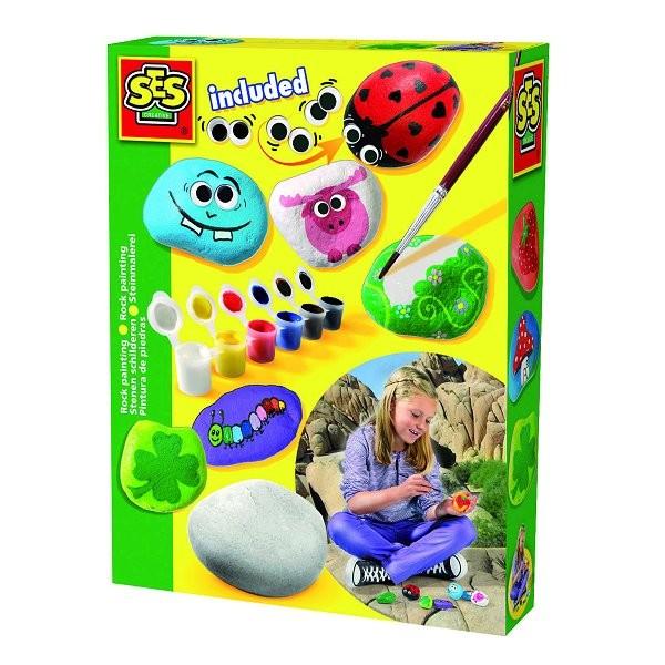 peinture sur pierre jeux et jouets ses creative avenue. Black Bedroom Furniture Sets. Home Design Ideas