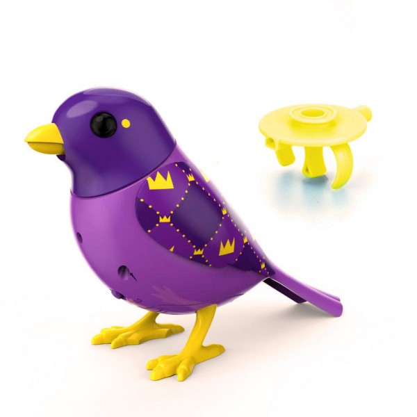 Oiseau électronique Digibird avec bague : Collection 2 : Royal - Silverlit-88244-Royal