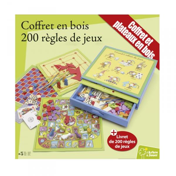 Coffret bois jeux de soci t 200 jeux jeux et jouets - Jeu en bois adulte ...