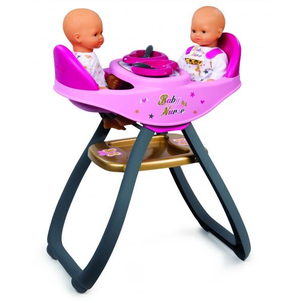 chaise haute pour poup es baby nurse jumeaux jeux et jouets smoby avenue des jeux. Black Bedroom Furniture Sets. Home Design Ideas