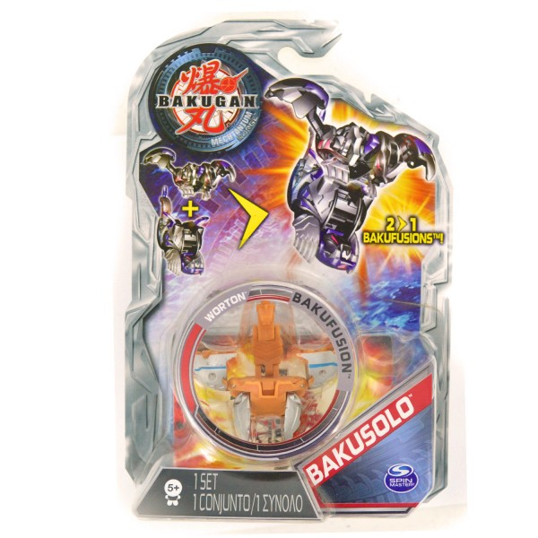 Figurine Bakugan : Bakusolo : Worton (marron) - SpinM-6017434-20053750