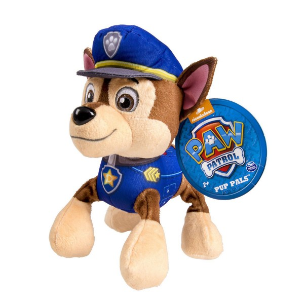 Peluche Pat'Patrouille (PAW Patrol) : Chase 25 cm - SpinM-6023230-20068052