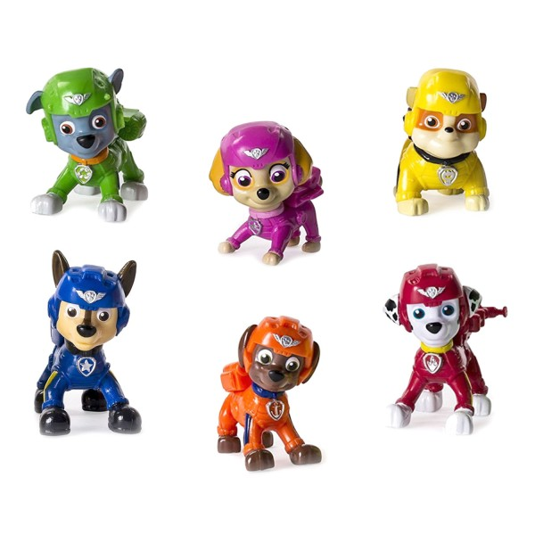 Figurine Pat'Patrouille (PAW Patrol) : Air Pup Buddies : Pack 6 figurines - SpinM-6034229-20081838