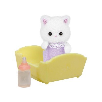 sylvanian family 5217 figurine et accessoires b b chat persan jeux et jouets sylvanian. Black Bedroom Furniture Sets. Home Design Ideas