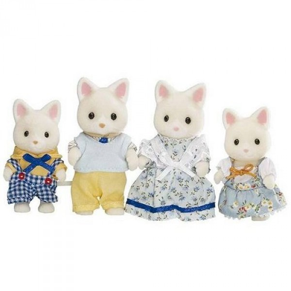 Sylvanian Family 3143 : Famille Chat soie - Sylvanian-3143-4175