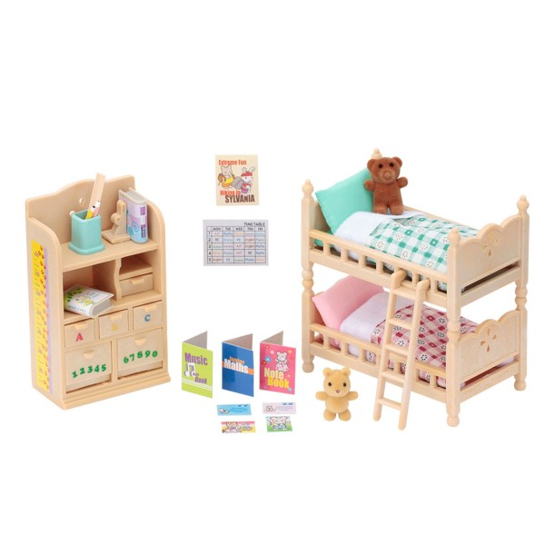 sylvanian family 4254 mobilier chambre enfants jeux et. Black Bedroom Furniture Sets. Home Design Ideas