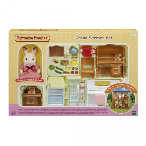 Sylvanian Family 5392 : Set ameublement et figurine pour cottage - Sylvanian-5392