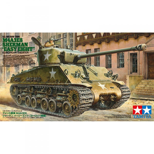 Maquette char : M4A3E8 Sherman Easy Eight - Tamiya-35346