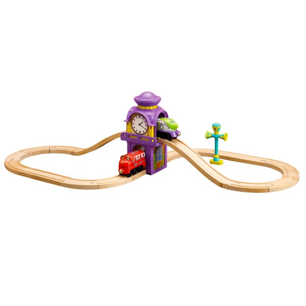 Circuit de train Chuggington : Circuit en 8 de la tour horloge - Tomy-LC56701