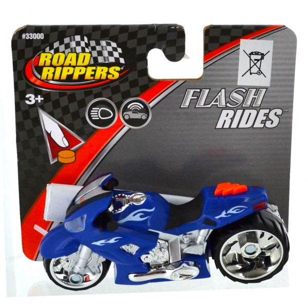 Moto Road Rippers : Flash Rides : bleue - Toystate-33000-6