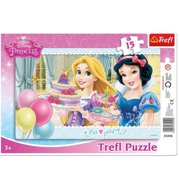 Puzzle 15 pièces Princesses Disney : Tea time - Trefl-31210