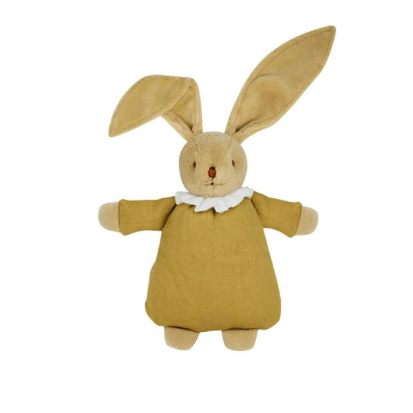 Doudou Lapin Nid d'Ange : Lin moutarde - Trousselier-V6341 62