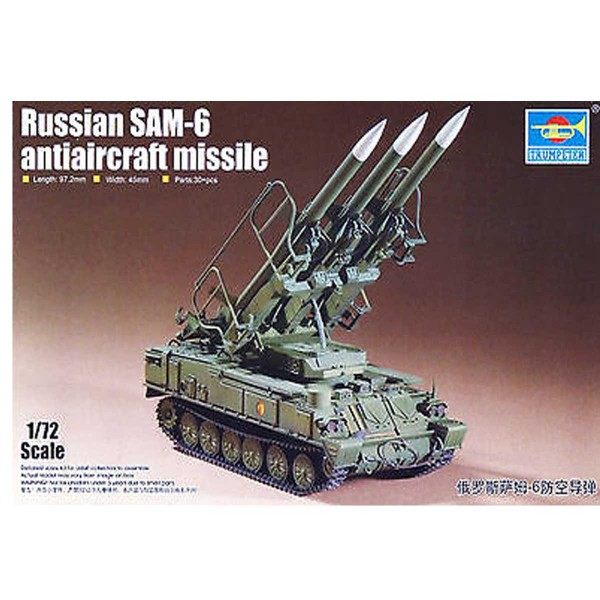 Maquette Char : Russian SAM-6 antiaircraft missile - Trumpeter-TR07109