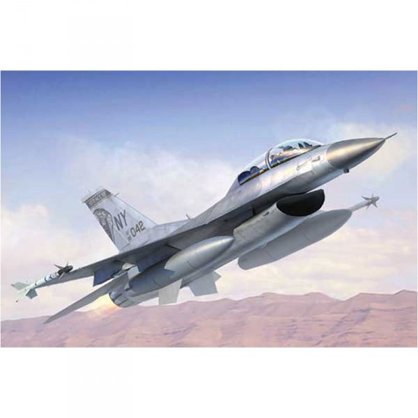 Maquette Avion Militaire : F-16 B/D Fighting Falcon Block - Trumpeter-TR03920