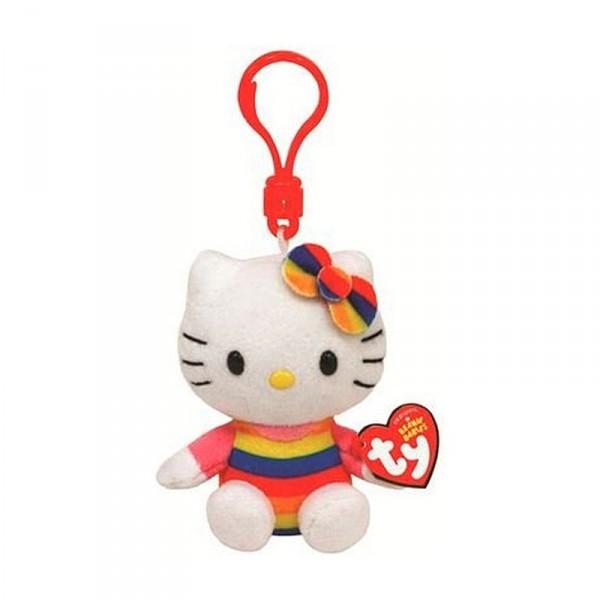 Porteclé Peluche Hello Kitty Plage Jeux Et Jouets TY Beanie - Porte clé peluche