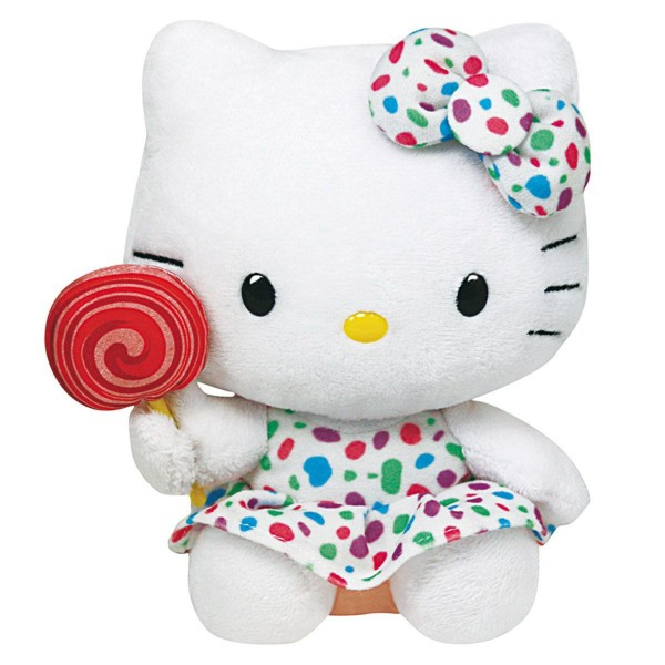 Peluche Hello Kitty 33 cm : Lollipop - BeanieBoos-TY90142